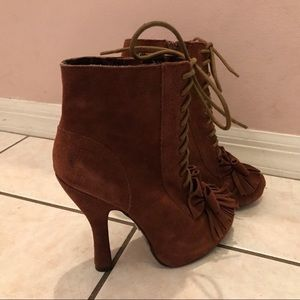 Betsey Johnson suede ankle booties